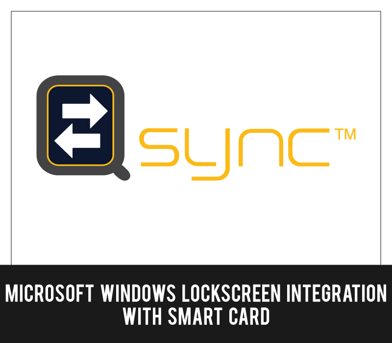 Qsync - Microsoft Windows lockscreen integration with smart card