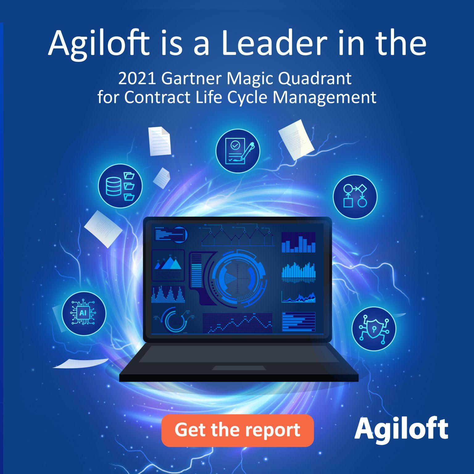 Agiloft is AGAIN named a leader in Gartner's Magic Quadrant for CLM